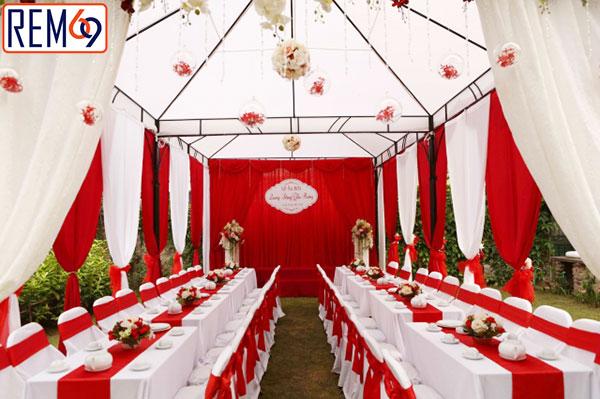 rèm đám cưới đẹp tại hải phòng