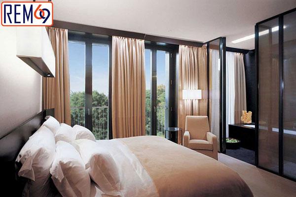 rèm tự động khách sạn