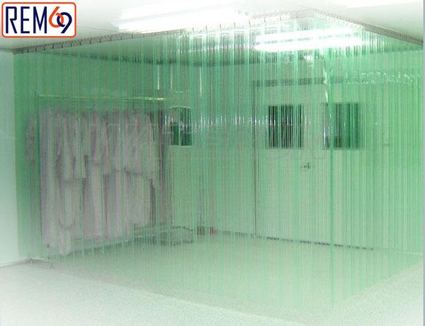 ứng dụng chống tĩnh điện rèm nhựa pvc