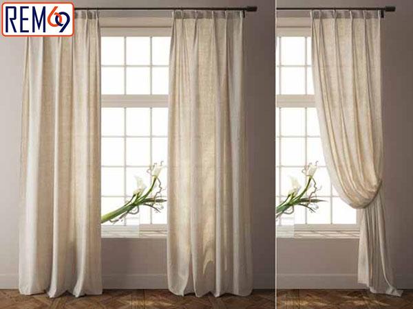 phân biệt rèm vải nhập khẩu và rèm vải thường